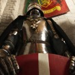 Medieval knight - crusader — Stock Photo
