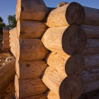 Corner of blockhouse from logs — Stock Photo