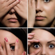Close-up pictures of the face mimic — Stok fotoğraf