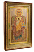 Russian orthodoxy icon over white — Stock Photo