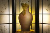 Džbán a hroznů v luxusním interiéru — Stock fotografie