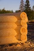 Corner of blockhouse from logs — Foto de Stock
