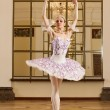 Ballerina in ballet pose - Foto Stock