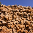Stack of fire wood — Stock Photo