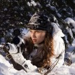 Sniper girl — Stock Photo