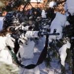Sniper girl — Stock Photo