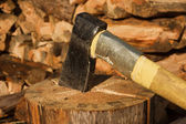 Axe in log — Stock Photo