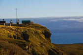Meteorological station on the coast of the Arctic Ocean — Stock Photo