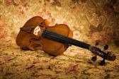 Old italian violin — Stock Photo