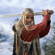 Viking girl warrior — Stock Photo #9047910