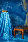 интерьер в синий цвет — Стоковое фото