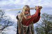Viking girl warrior — Photo