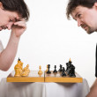 Two men play a chess — Stock Photo #9186963