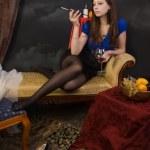 Beautyful woman in a elegant boudoir — Stock Photo #9187268