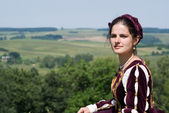 Young woman in renaissance dress — Stock Photo
