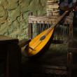 Renaissance minstrels lute - Stock Photo