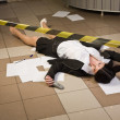 Crime scene in a office — Stock Photo