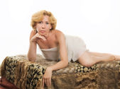 Portrait of a beautiful blonde woman — Stock Photo