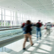 Crowd in rush at airport — Stock Photo