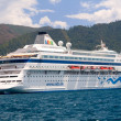 Stock Photo: MARMARIS - APRIL 30: Cruise ship AIDwith Germtourists in Ma