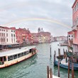 Grand channel in Venice with rainbow — Stock Photo