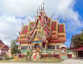 One of buildings of Wat Plai Laem - buddhist temple — Stock Photo