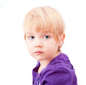 Sad little girl portrait — Stock Photo