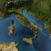 Italie carte 3d — Photo