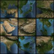 Asia 3d map set - Stock Photo