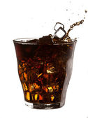 Cola splash — Stock Photo