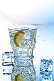 Soda with ice — Stock Photo