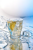 Soda with ice — Stock Photo