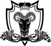 Escudo de ram fullface — Vetor de Stock