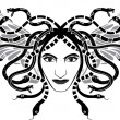 Royalty-Free Stock Vector Image: Medusa Gorgona head