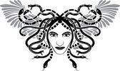 Medusa Gorgona head — Stock Vector