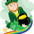 Stock Vector: Irish Leprechaun