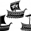 Ancient Greek ship set — Stock Vector #8588301