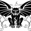 Gargoyle stencil decoration — Stock Vector