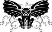 Gargoyle stencil decoration — Stock Vector