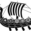 Ancient vikings ship - Stock Vector