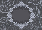 Rose frame background — Vector de stock