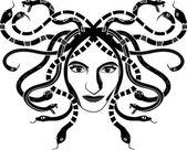 Medusa Gorgona — Stock Vector