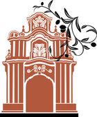 Arch stencil — Stock Vector