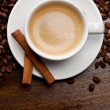 Cup of coffee with cinnamon — Stock Photo #9077707