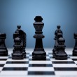 Black chess pieces — Stock Photo #9077735