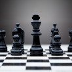 Black chess pieces — Stock Photo