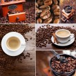 Collage of coffee - Stock Photo