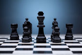 Black chess pieces — Stock Photo
