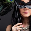 Stock Photo: Woman with mask