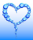 Drops of water in form a heart — Stock Vector
